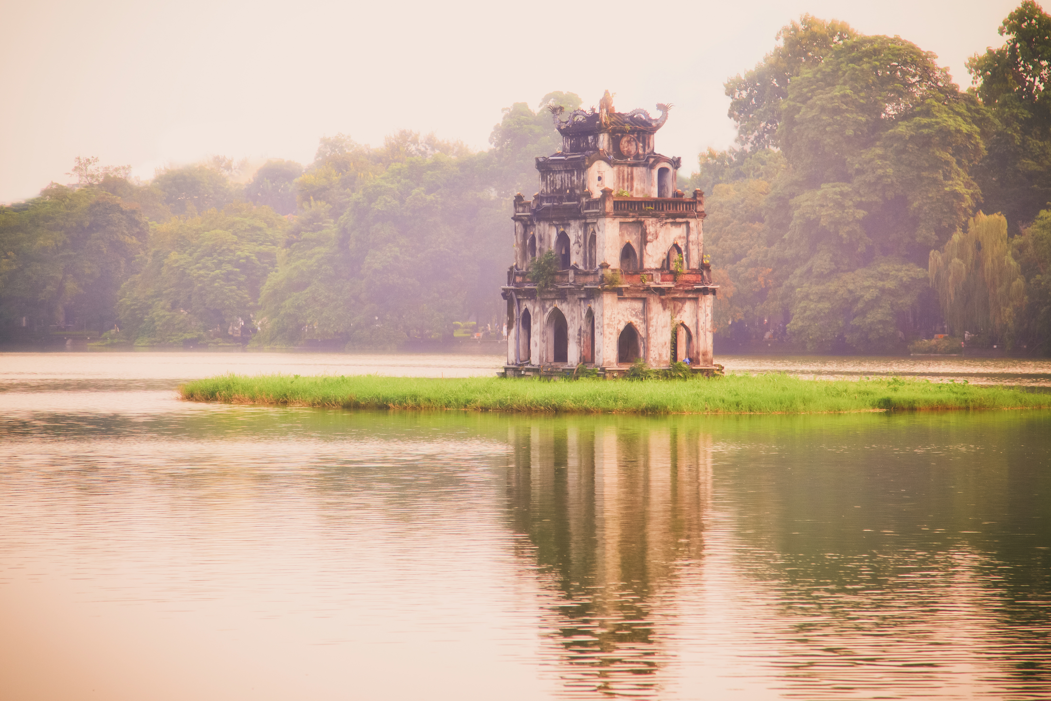 500px Photo ID: 59308186 - Hoan Kiem Lake is in the center of the capital city, Hanoi.