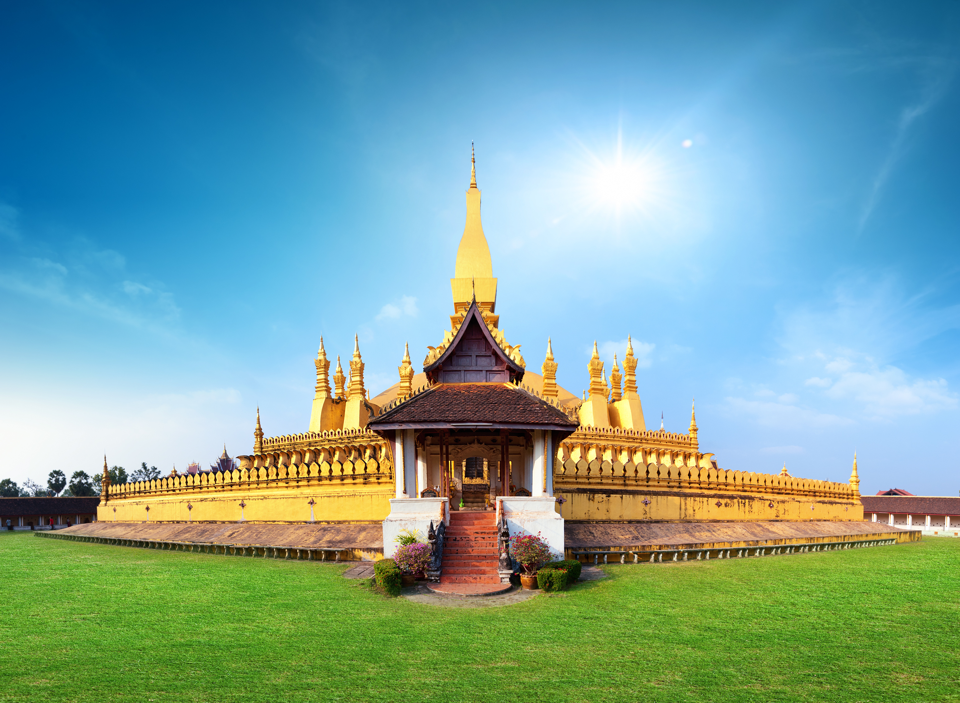 Phra That Luang temple and landmark in Laos, Vientiane